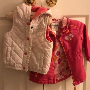 Light jacket and puffer vest